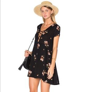 Amuse Society Ludlow Black Sands Mini Dress